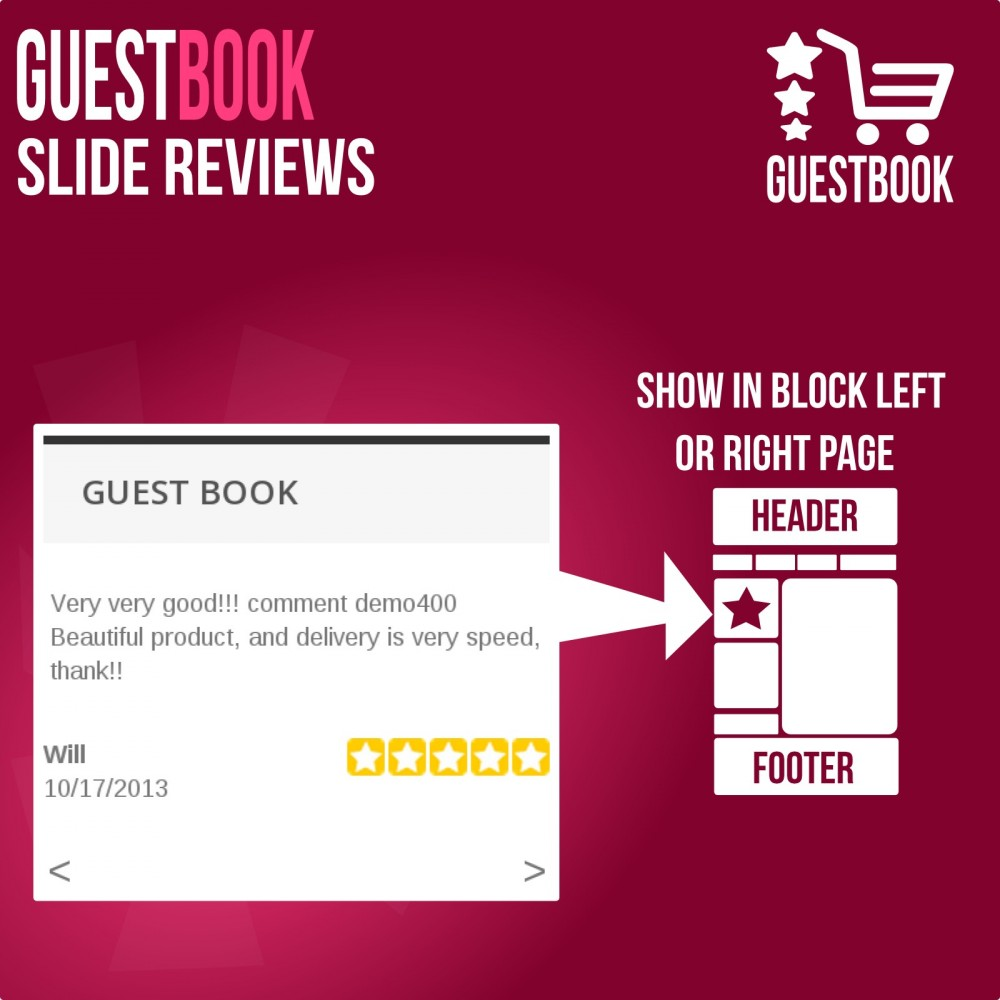 module - Customer Reviews - Guestbook orders customers reviews - 3
