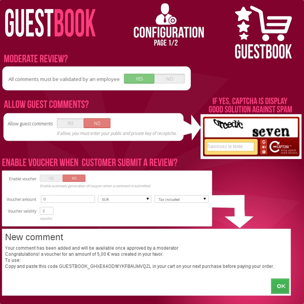 module - Customer Reviews - Guestbook orders customers reviews - 7