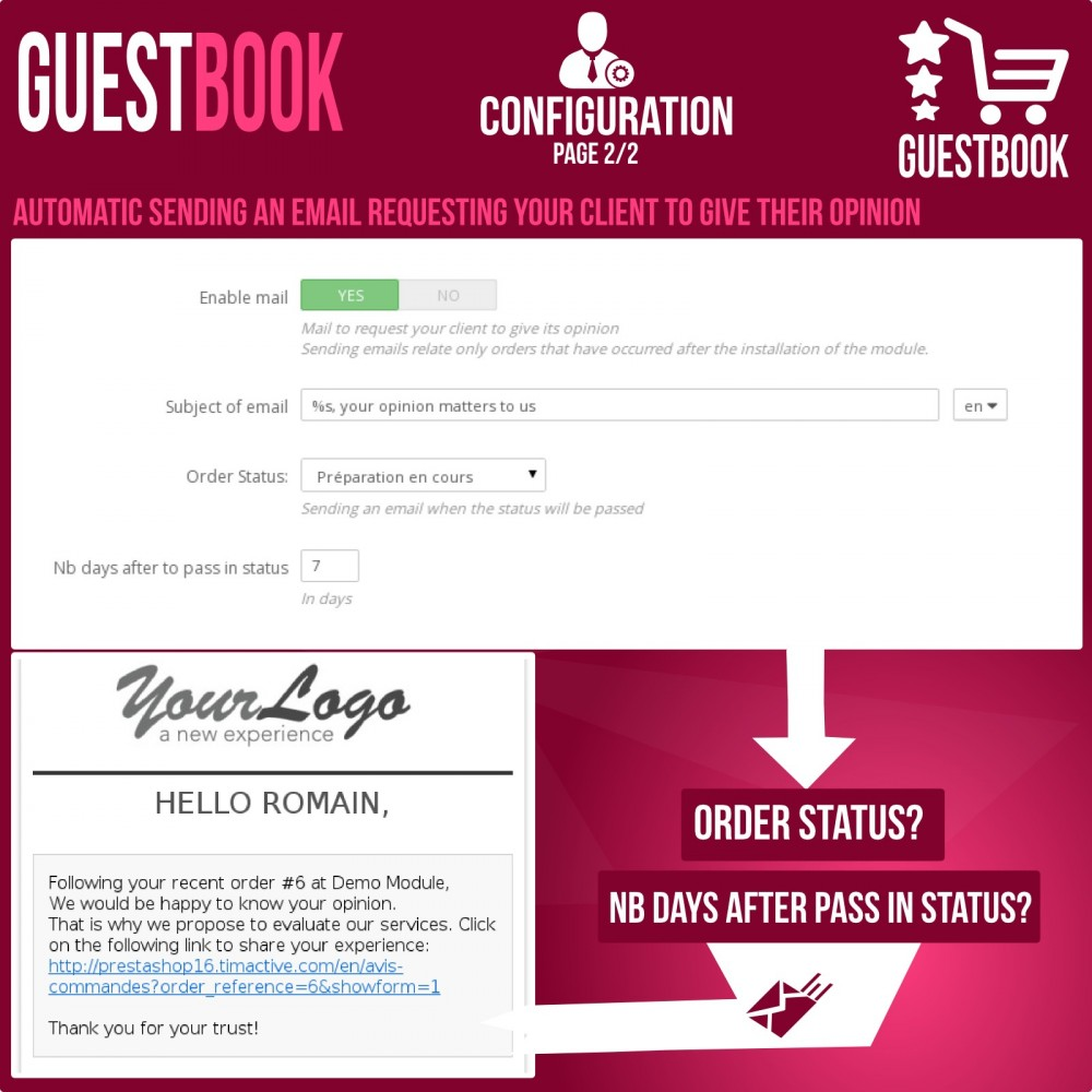 module - Opinie klientów - Guestbook orders customers reviews - 8