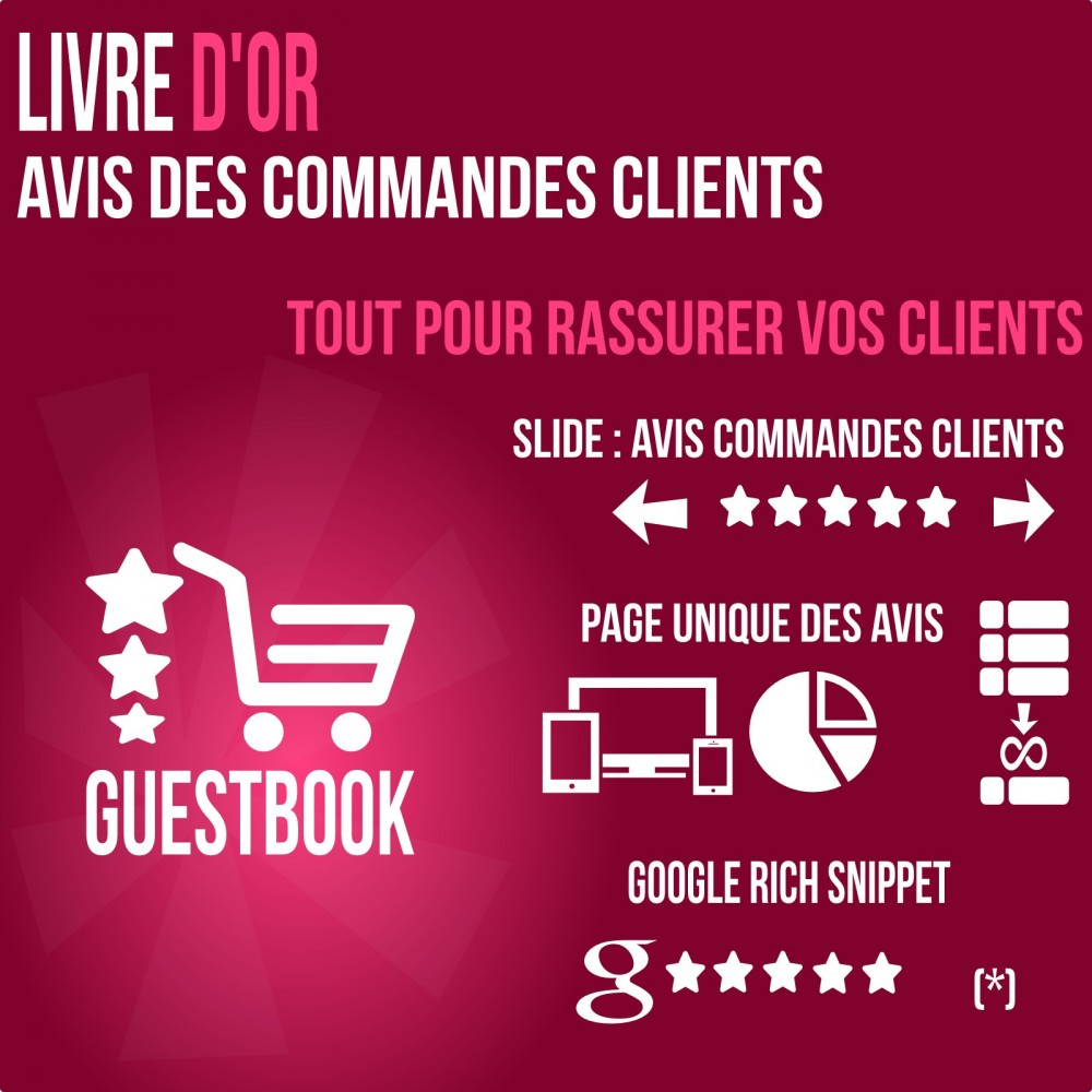 module - Avis clients - Livre d or : avis des commandes, rassurez vos clients! - 1