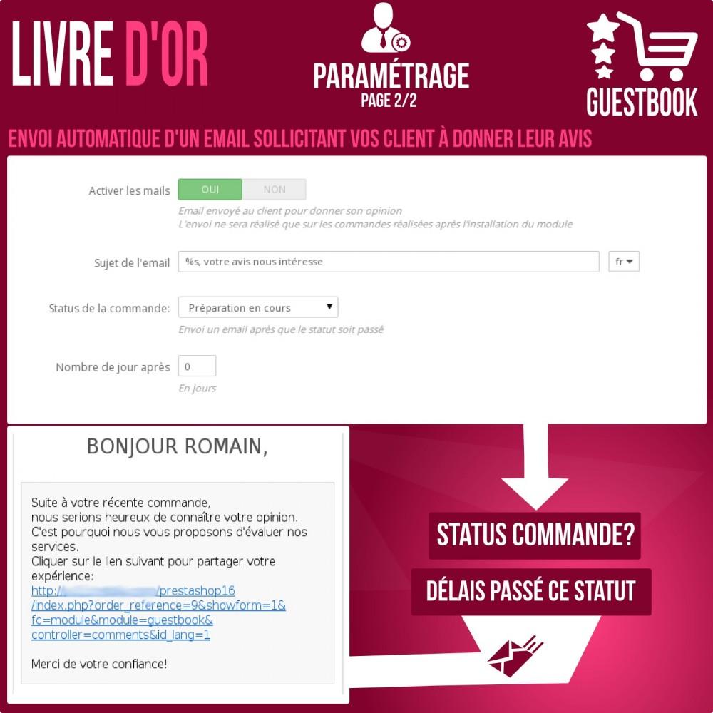 module - Avis clients - Livre d or : avis des commandes, rassurez vos clients! - 8