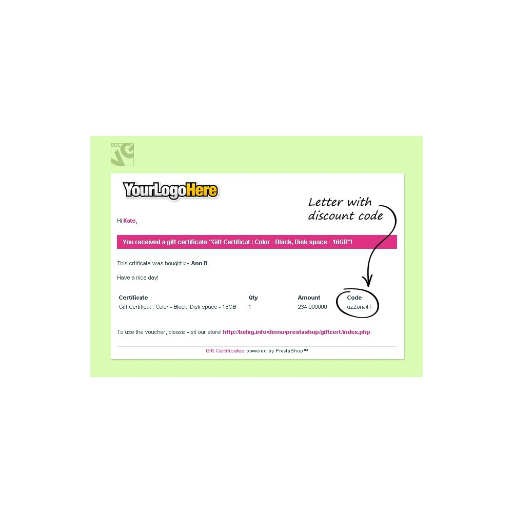 module - Whishlist & Gift Card - Gift Certificate - 11