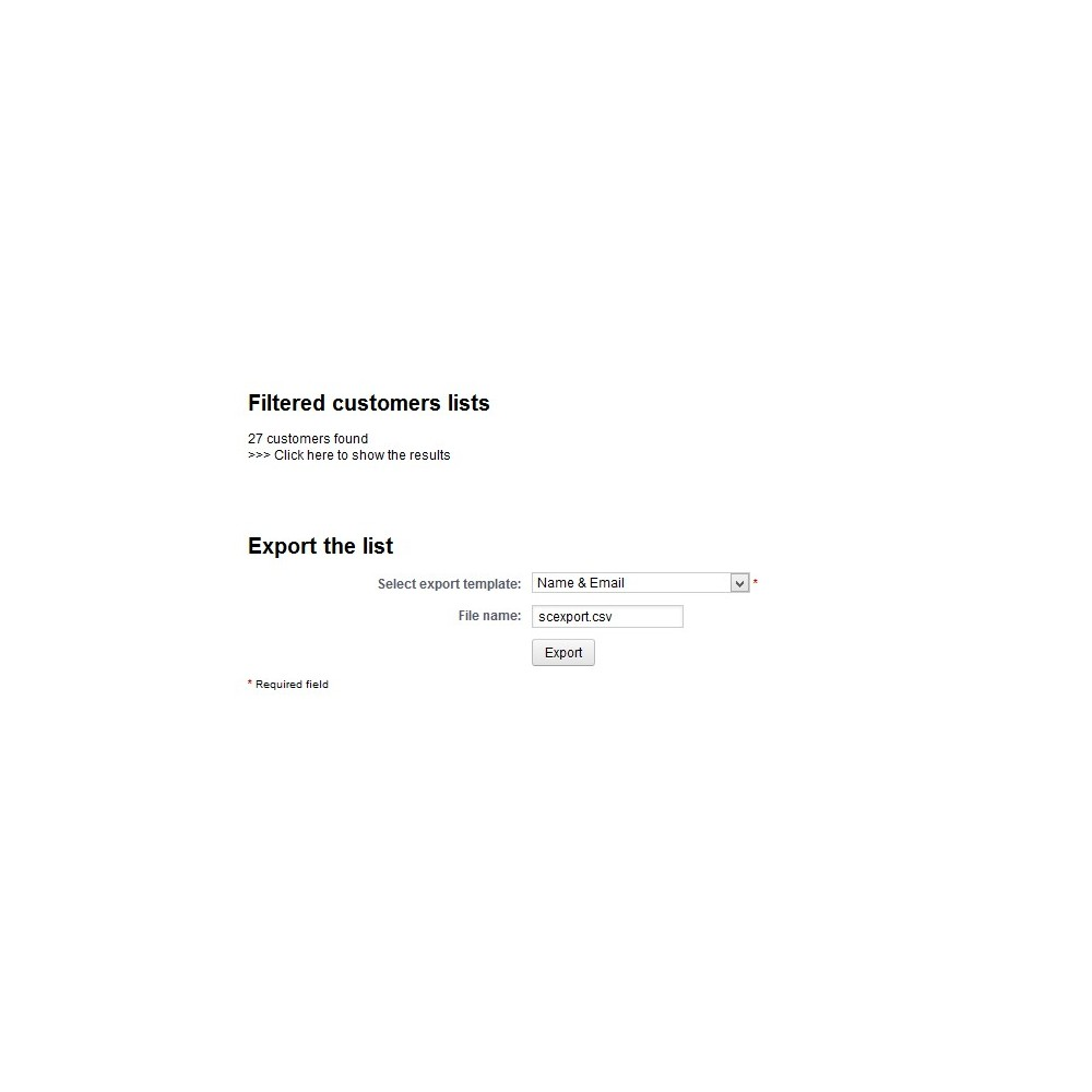 module - Data Import & Export - Customer Export - 4