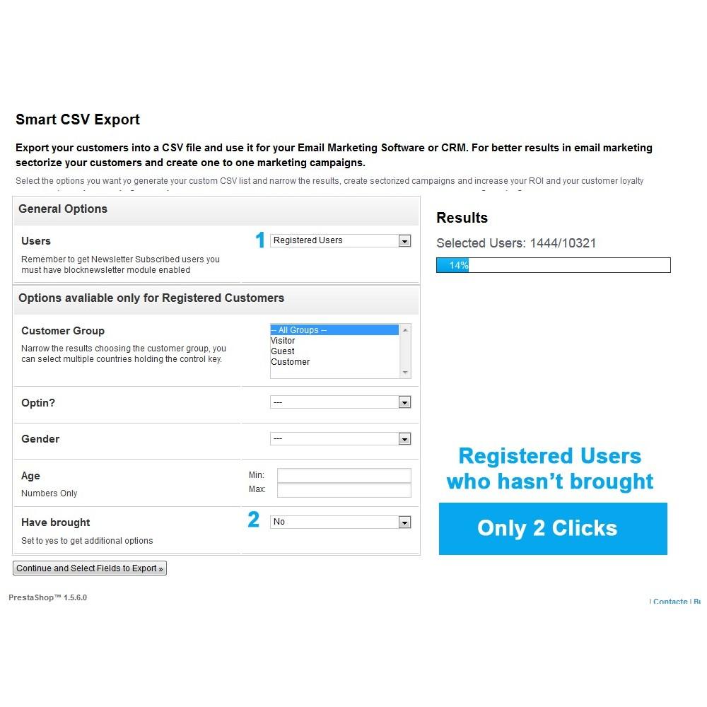 module - Importación y Exportación de datos - Listas CSV - Exportar clientes - 5