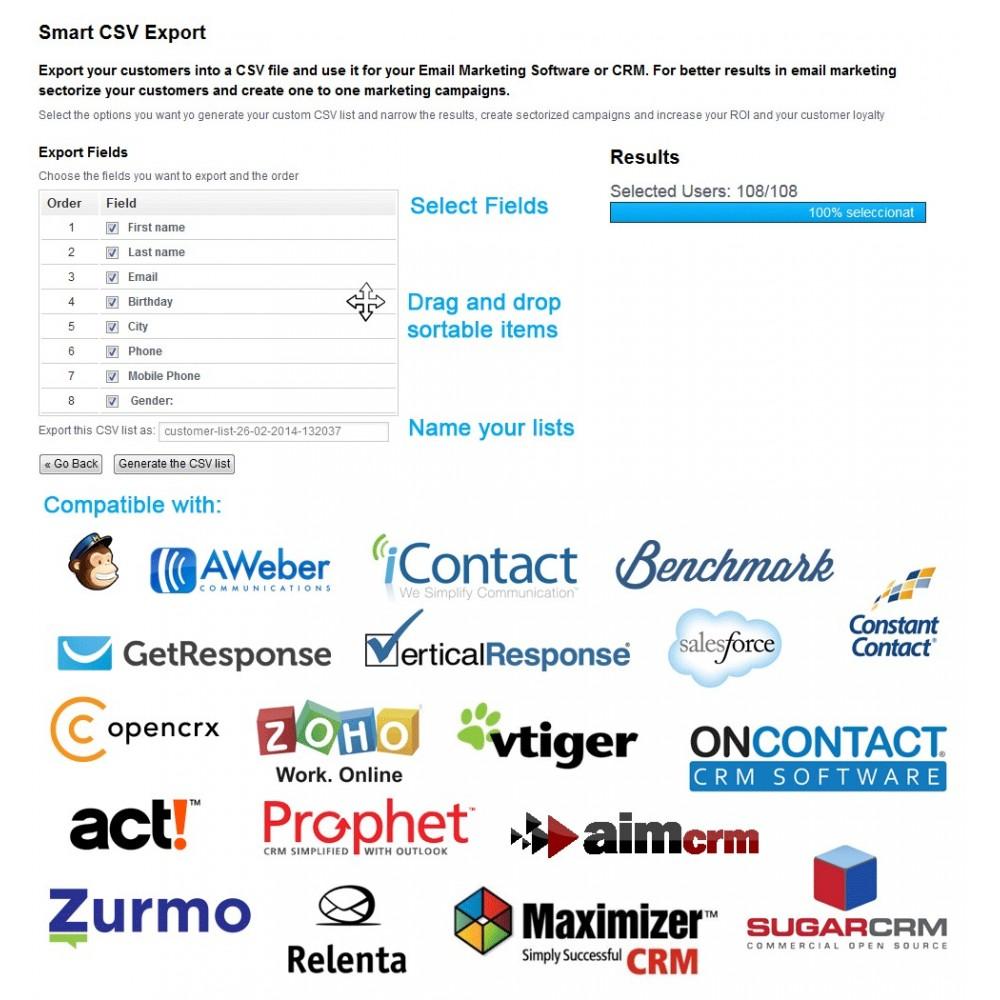 module - Importación y Exportación de datos - Listas CSV - Exportar clientes - 8