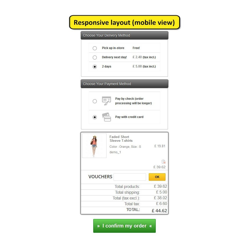 module - Processus rapide de commande - One page checkout for Prestashop - 10