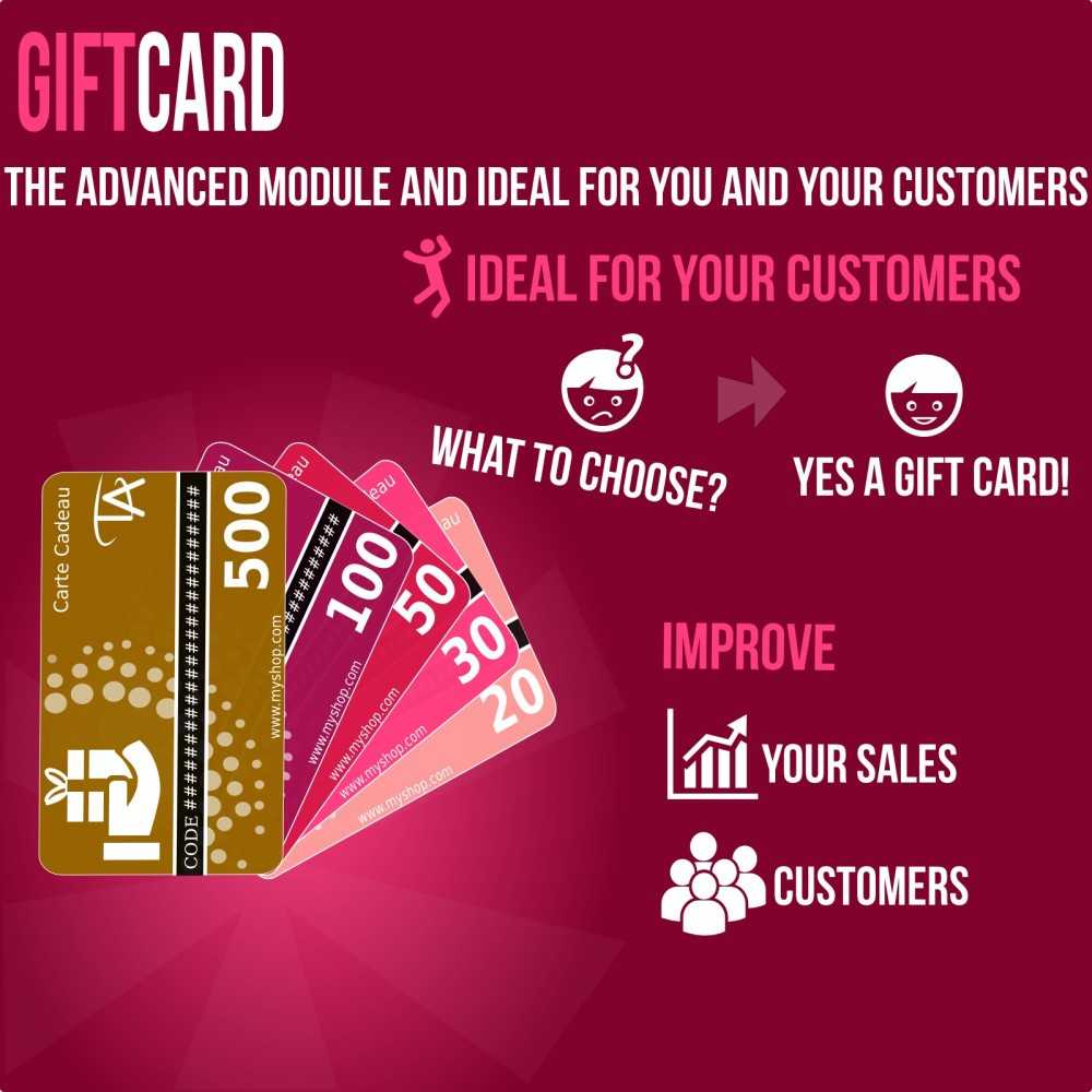 module - Whishlist & Gift Card - Gift Card - Advanced solution - 1