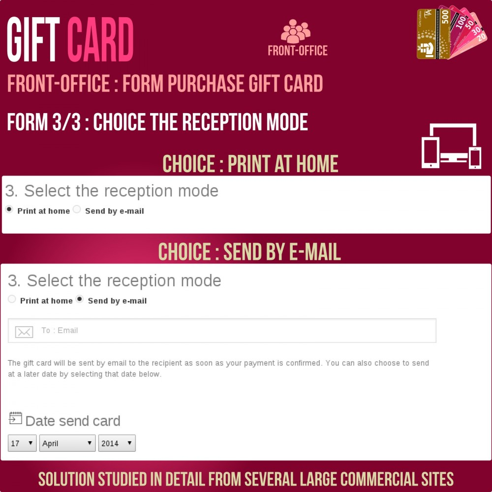 module - Whishlist & Gift Card - Gift Card - Advanced solution - 5