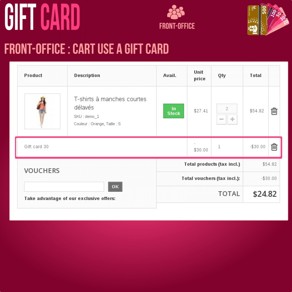 module - Whishlist & Gift Card - Gift Card - Advanced solution - 8