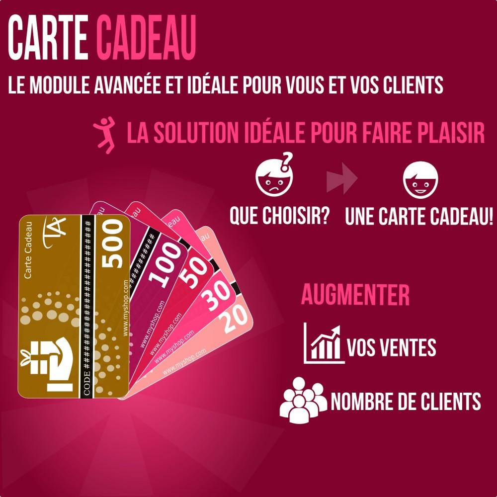 module - Liste de souhaits & Carte cadeau - Carte cadeau - solution avancée - 1