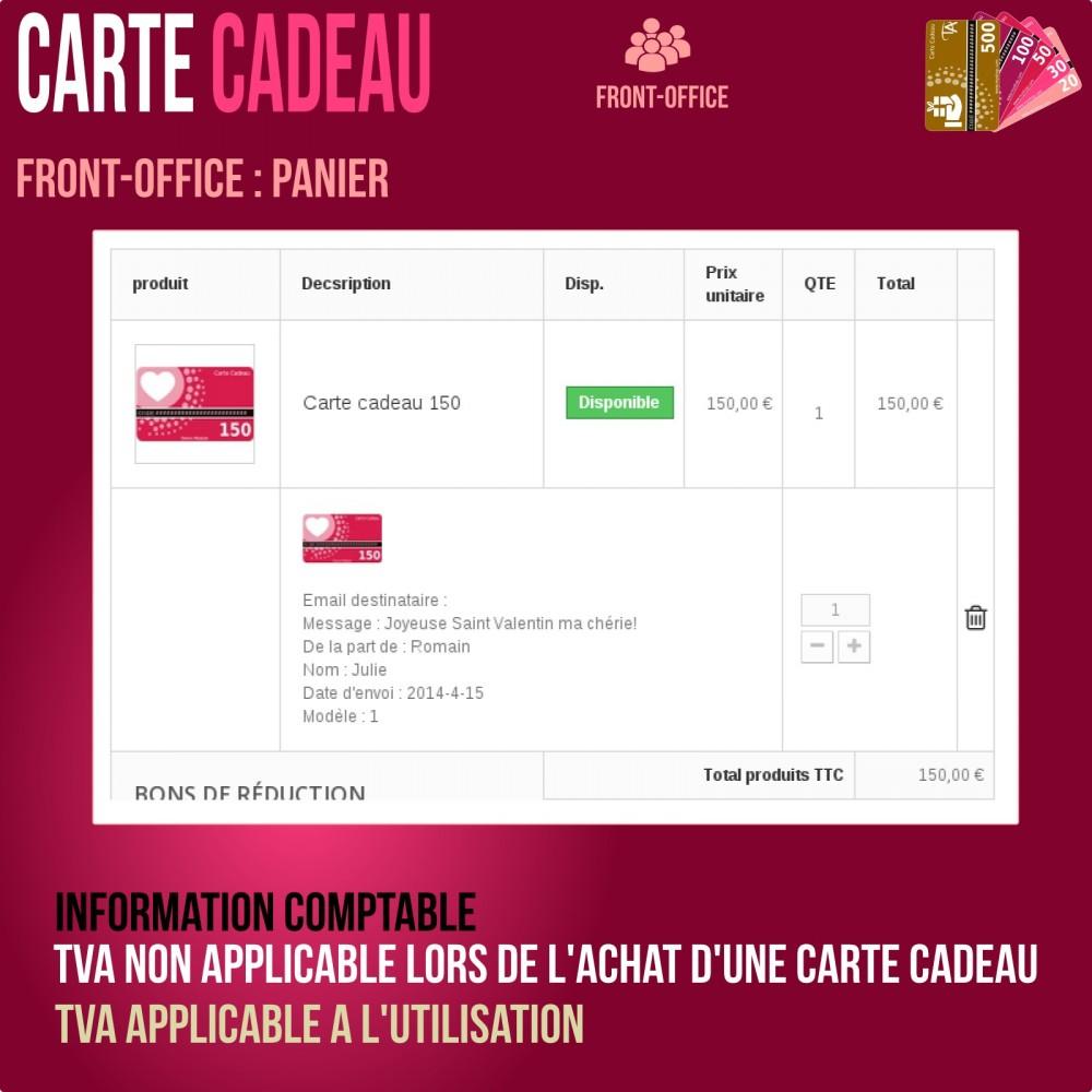 module - Liste de souhaits & Carte cadeau - Carte cadeau - solution avancée - 7