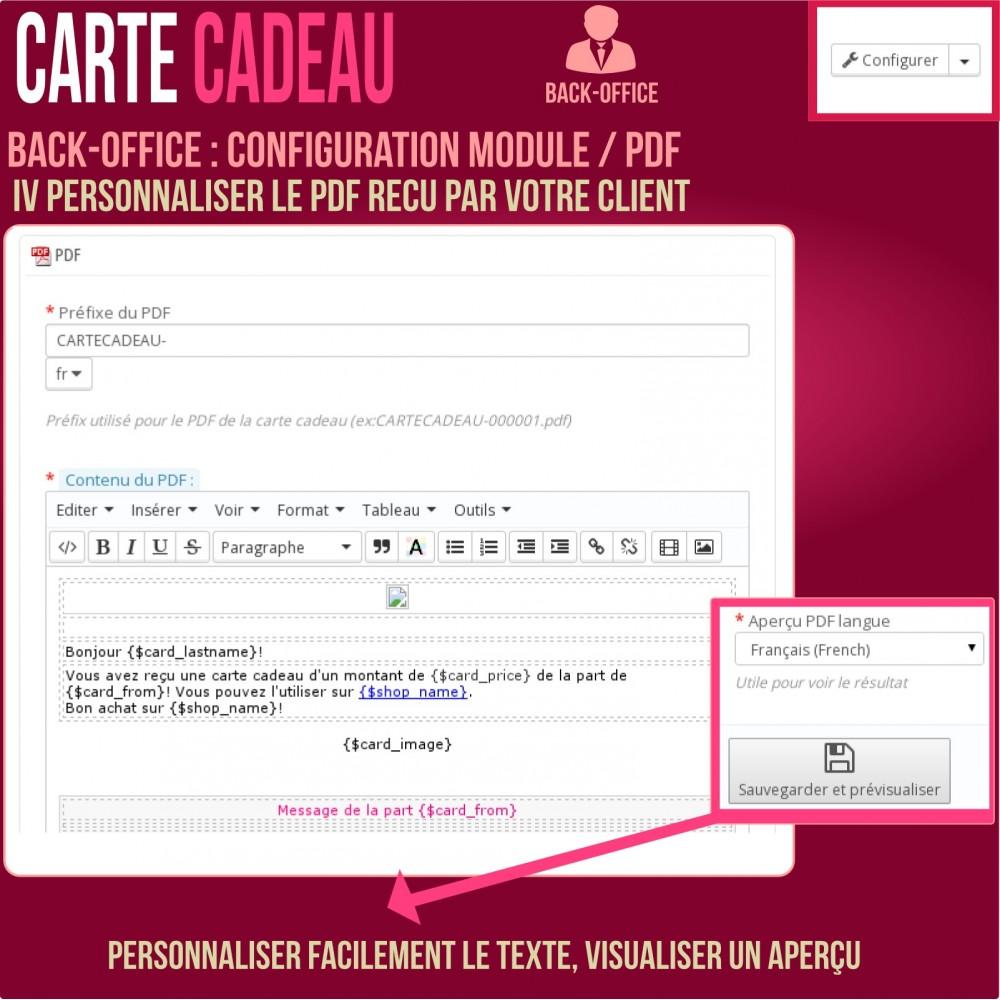 module - Liste de souhaits & Carte cadeau - Carte cadeau - solution avancée - 21