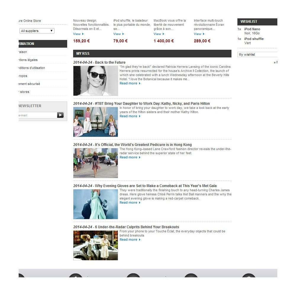 module - Blog, Forum & Actualités - Bloc RSS avec image - 2