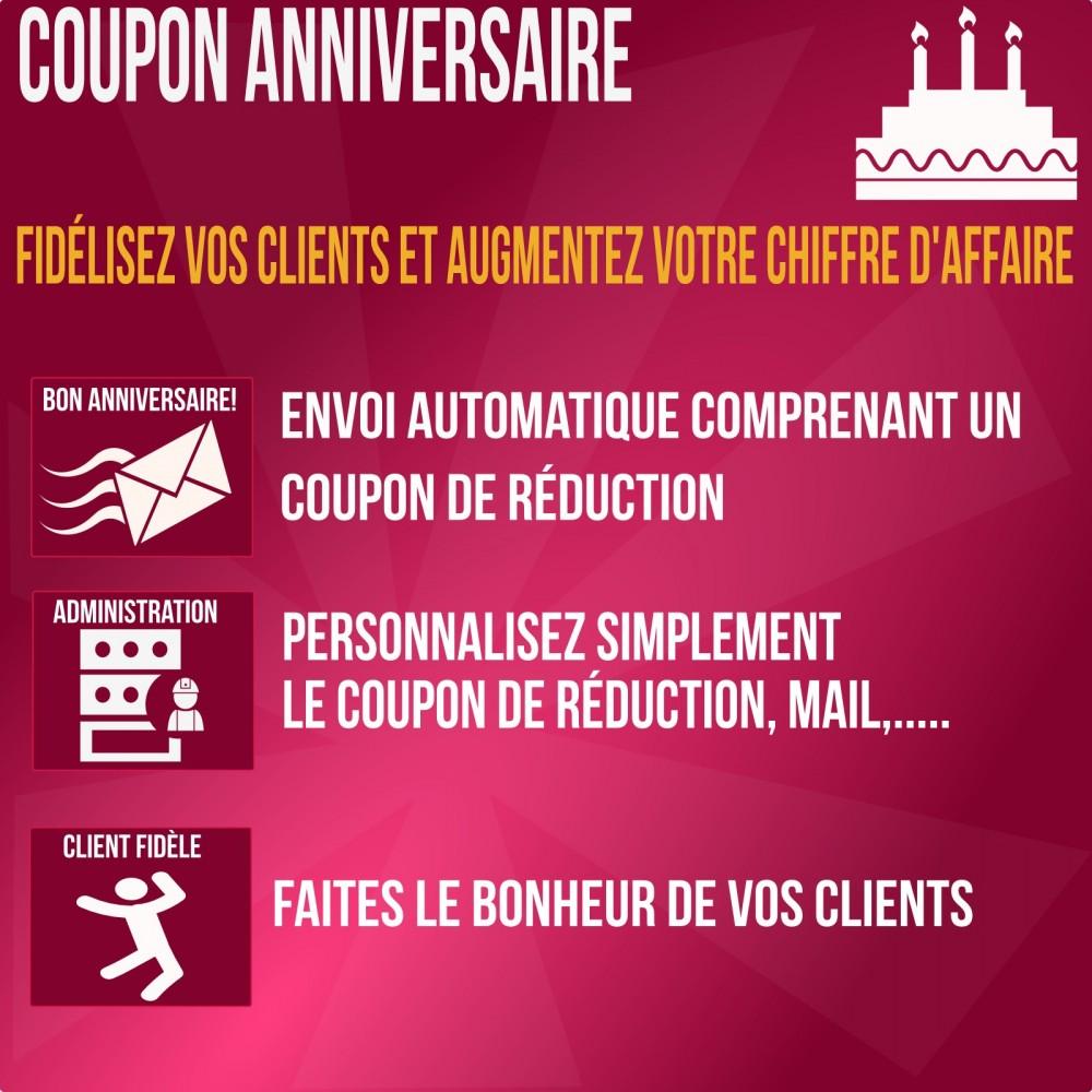 module - Fidélisation & Parrainage - coupon anniversaire : fidélisez vos clients - 1