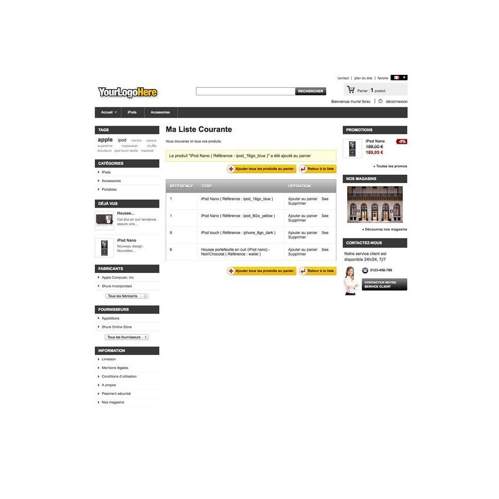 module - Liste de souhaits & Carte cadeau - Liste de Course / Produit favoris / Wishlist - 8