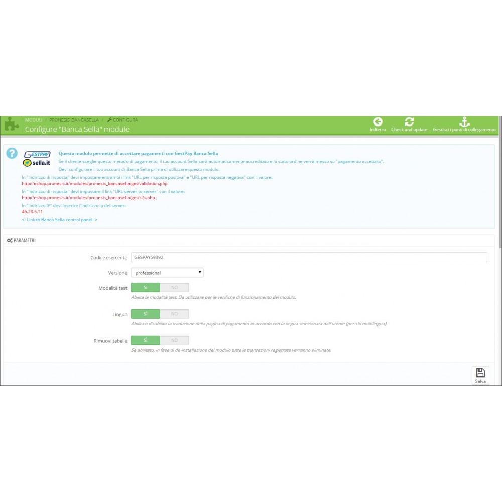 module - Pagamento con Carta di Credito o Wallet - Banca Sella Gestpay Advanced - 1