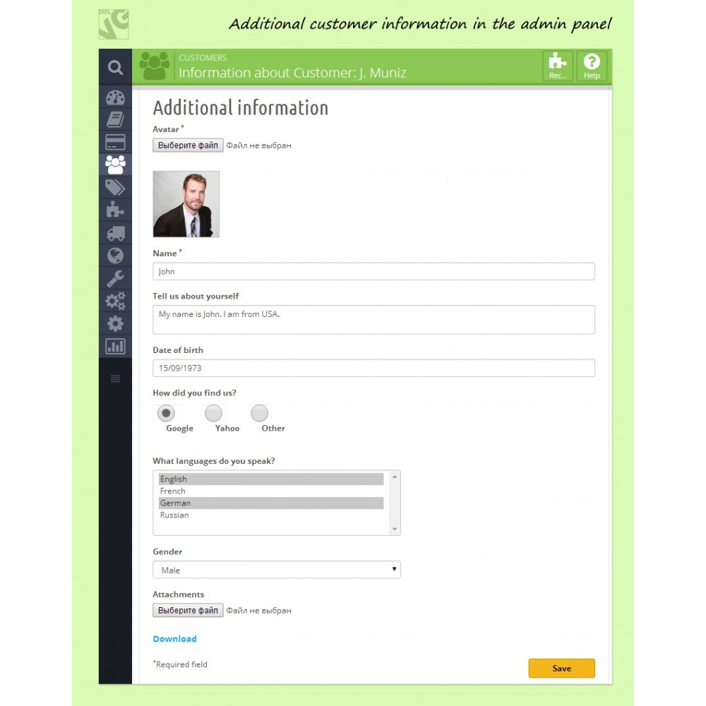 module - Registration & Ordering Process - Customer Attributes and Registration Fields - 7