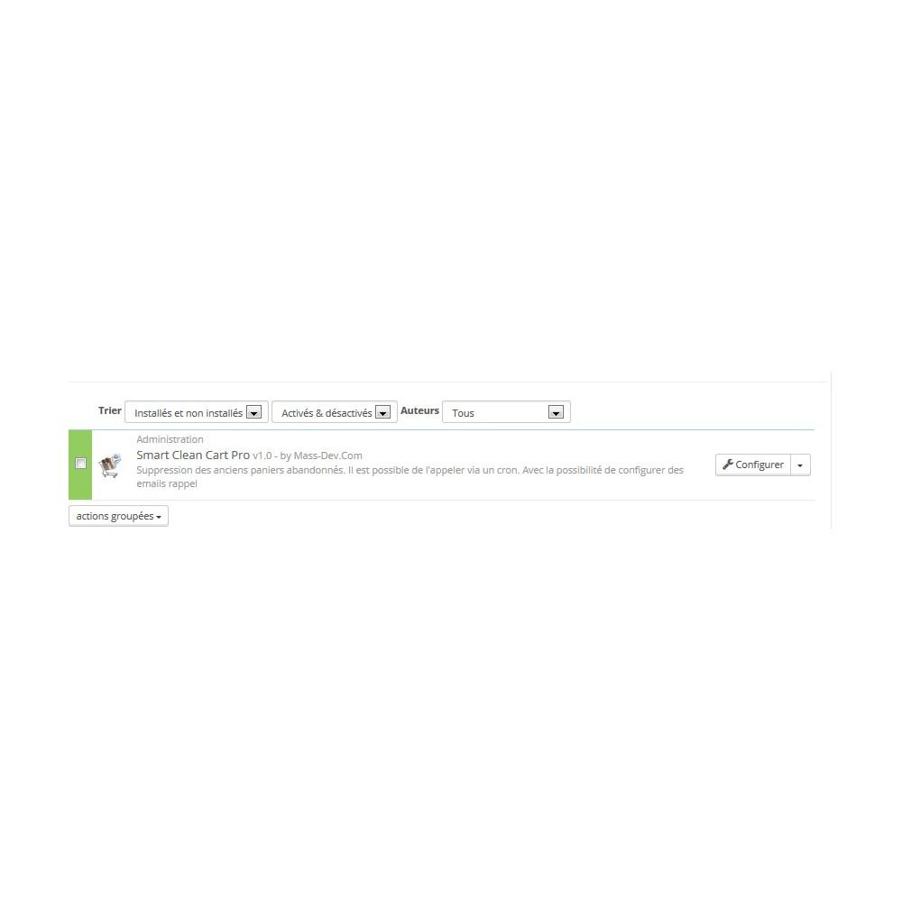 module - Remarketing & Paniers Abandonnés - Smart Clean Cart Pro - 2