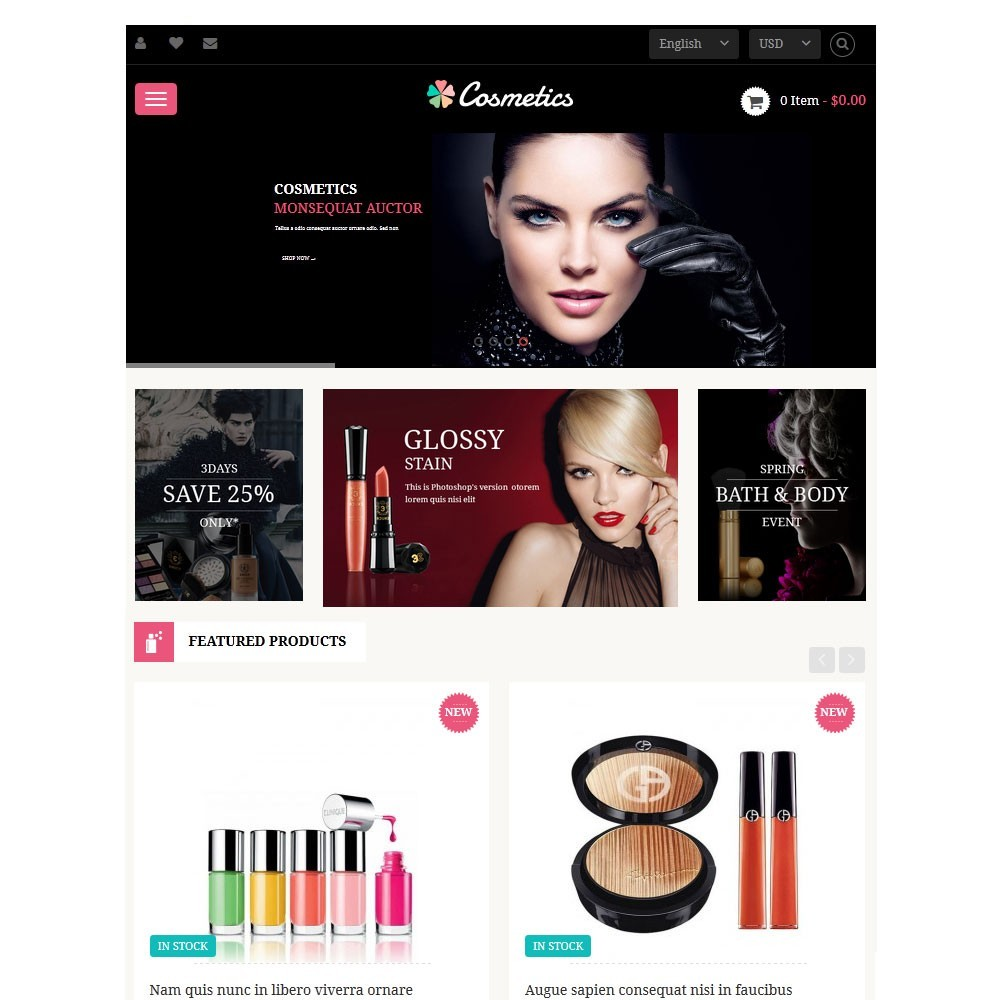 theme - Здоровье и красота - Leo Cosmetics - Organic, Health, Pharmacy, Beauty store - 3