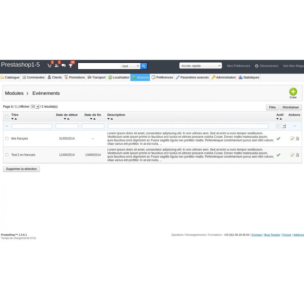 module - Blog, Forum & Actualités - Gestion d'évènements et d'annonces - 4