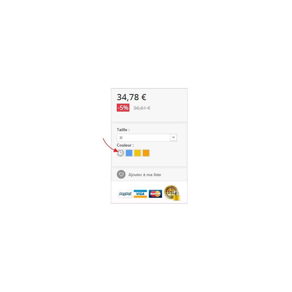 module - Combinaciones y Personalización de productos - Viñetas para los atributos de los productos - 1