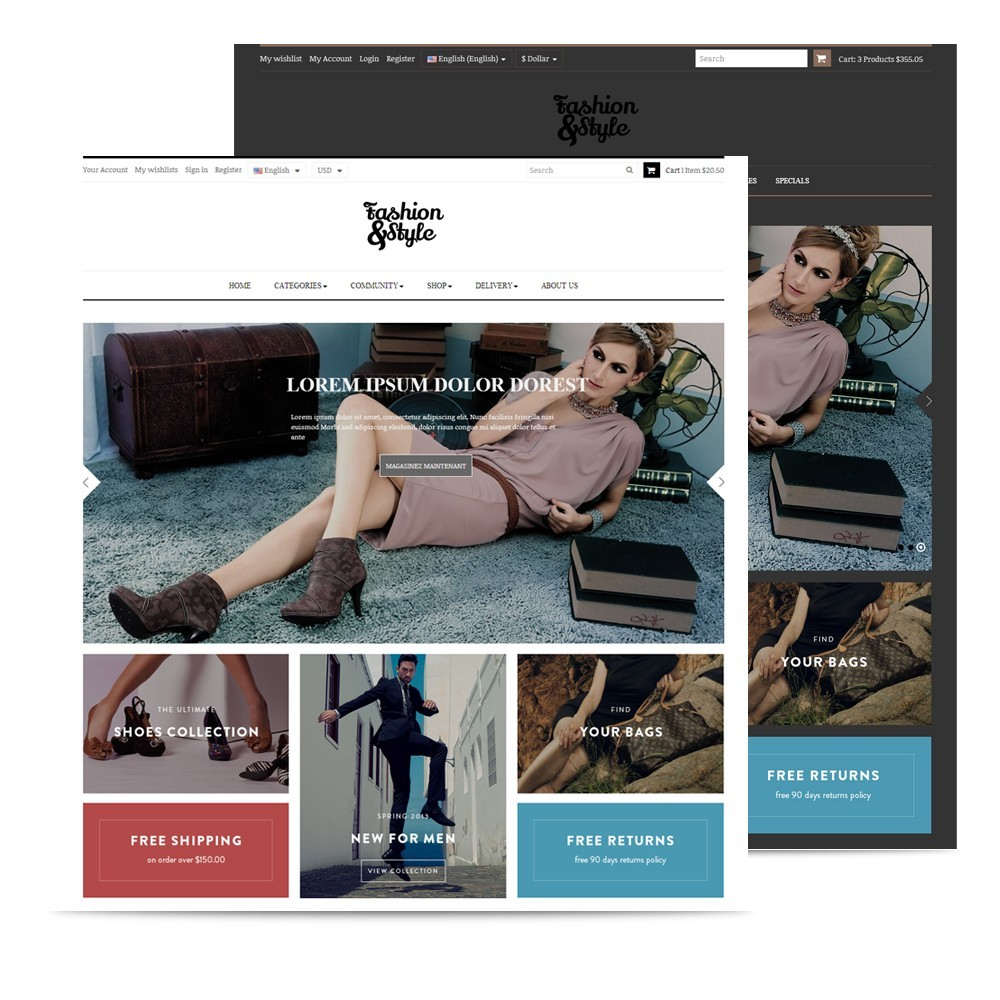 theme - Mode & Schuhe - Leo Fashion Store Prestashop - 2