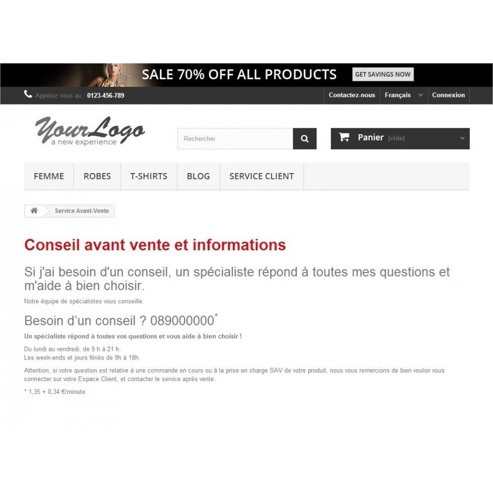 module - Personnalisation de Page - Page CMS Privée - 6