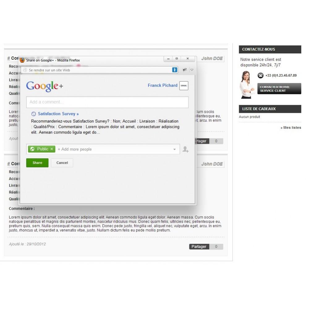 module - Formulaires de Contact & Sondages - Enquête de Satisfaction - 20