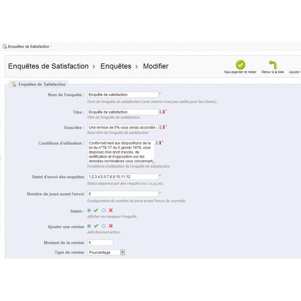 module - Formulaires de Contact & Sondages - Enquête de Satisfaction - 25