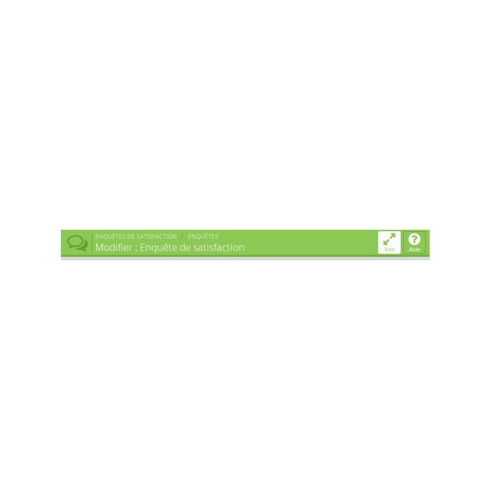 module - Formulaires de Contact & Sondages - Enquête de Satisfaction - 11
