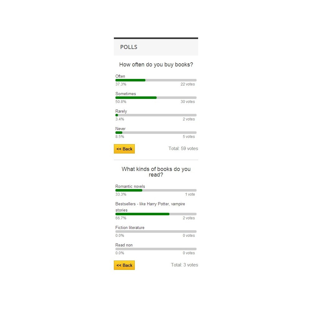 module - Form di contatto & Questionari - Poll Pro - 10