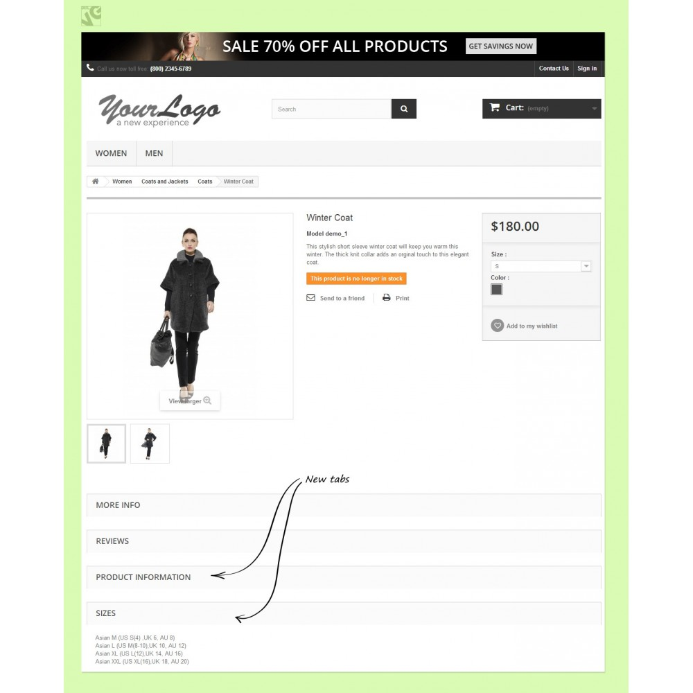 Home product tabs module