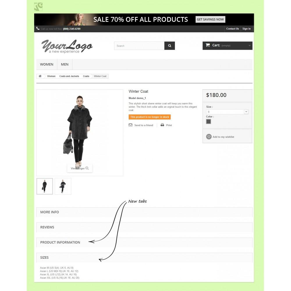 module - Informaciones adicionales y Pestañas - Product Tabs - 4
