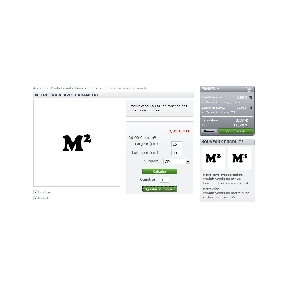 module - Tailles & Dimensions - Produits multi dimensionnels - 4