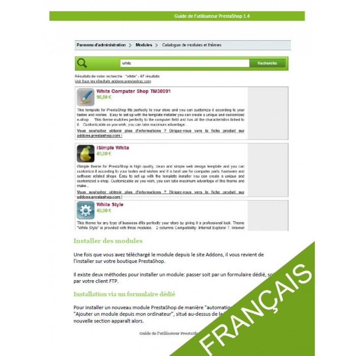 other - Guide utilisateur PrestaShop - Guide utilisateur PrestaShop 1.4 - 2