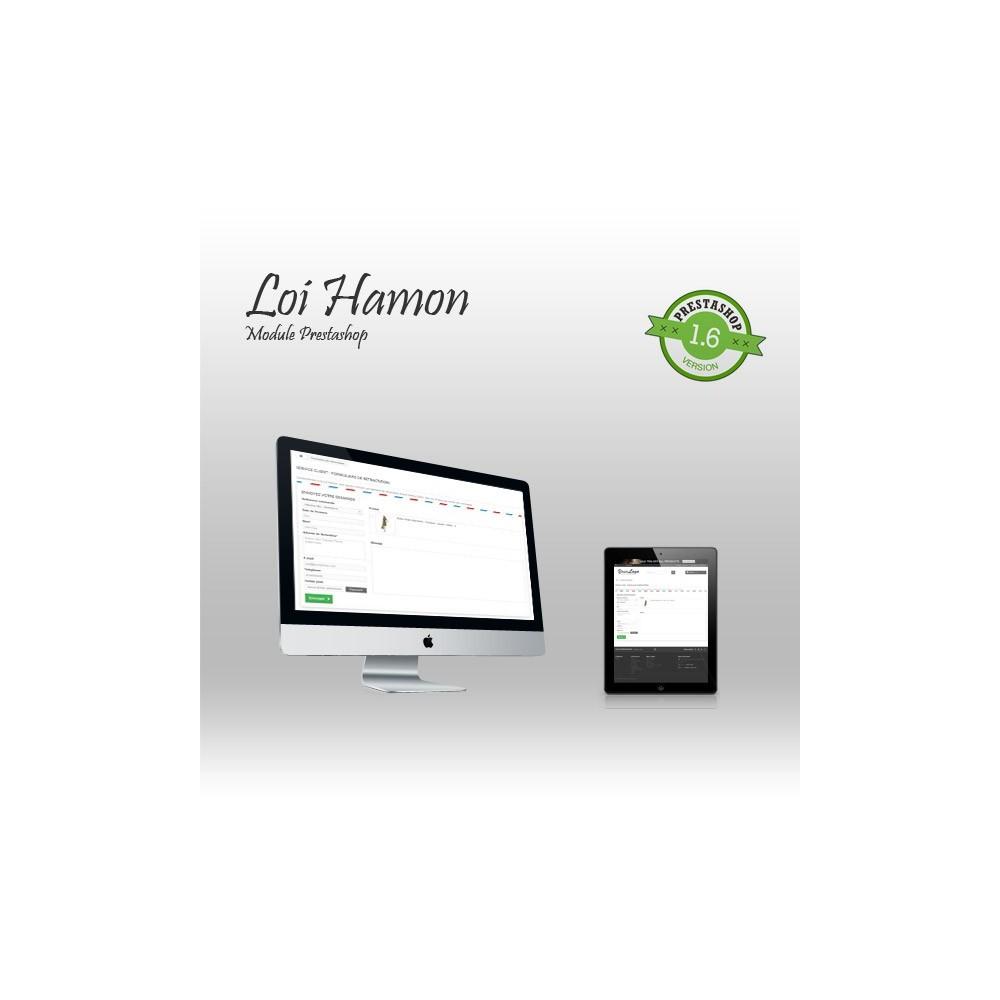 module - Législation - Loi Hamon : gestion des rétractations + envoi de CGV - 1