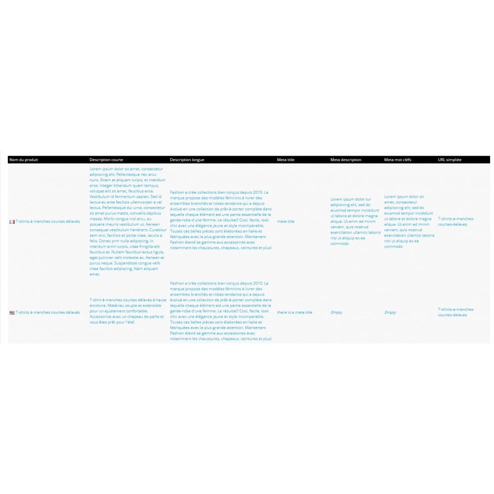 module - Edition rapide & Edition de masse - Fastmanager - administration en masse de vos produits - 12