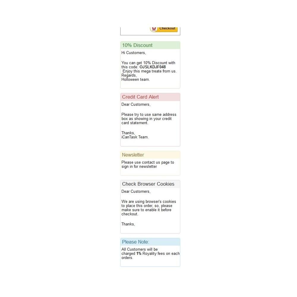 module - Personalización de la página - Bulletin board - 2