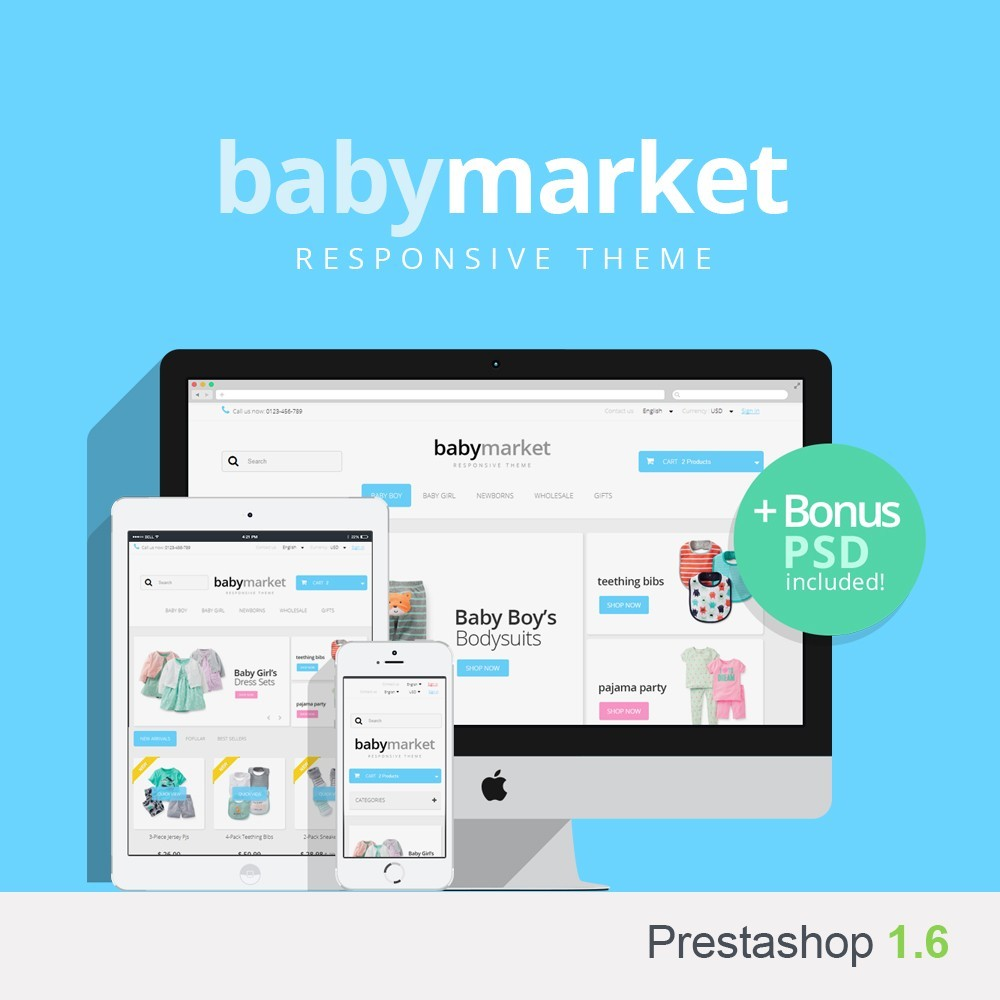 theme - Дети и Игрушки - Baby Market - 1