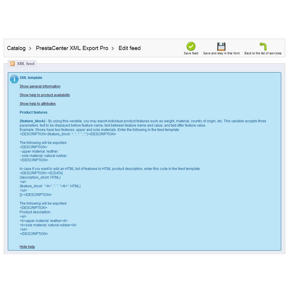 module - Importeren en Exporteren van data - PrestaCenter XML Export  Pro - 6