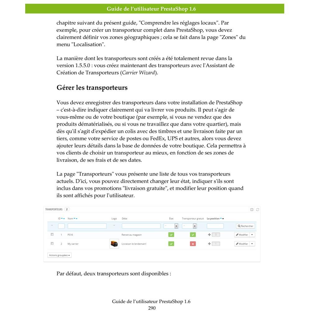 other - Guide utilisateur PrestaShop - Guide Utilisateur PrestaShop 1.6 - 2