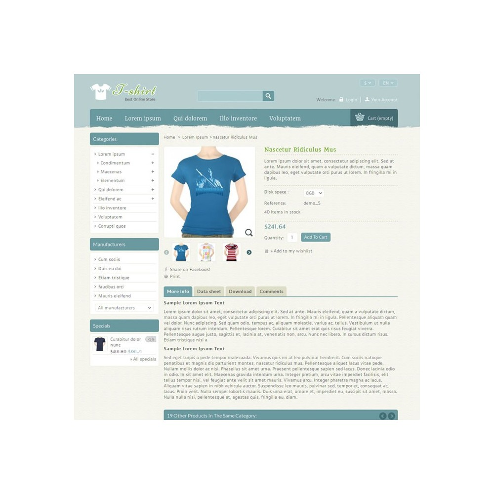 theme - Mode & Schuhe - T-shirt Prestashop Theme - PRS040081 - 4