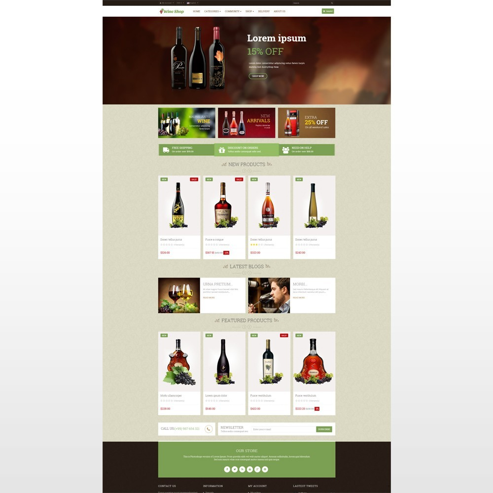 theme - Drink & Tobacco - Leo Wine Store - 2