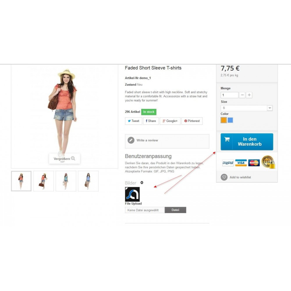 module - Altre informazioni & Product Tab - Move Customization Fields to the Top - 3