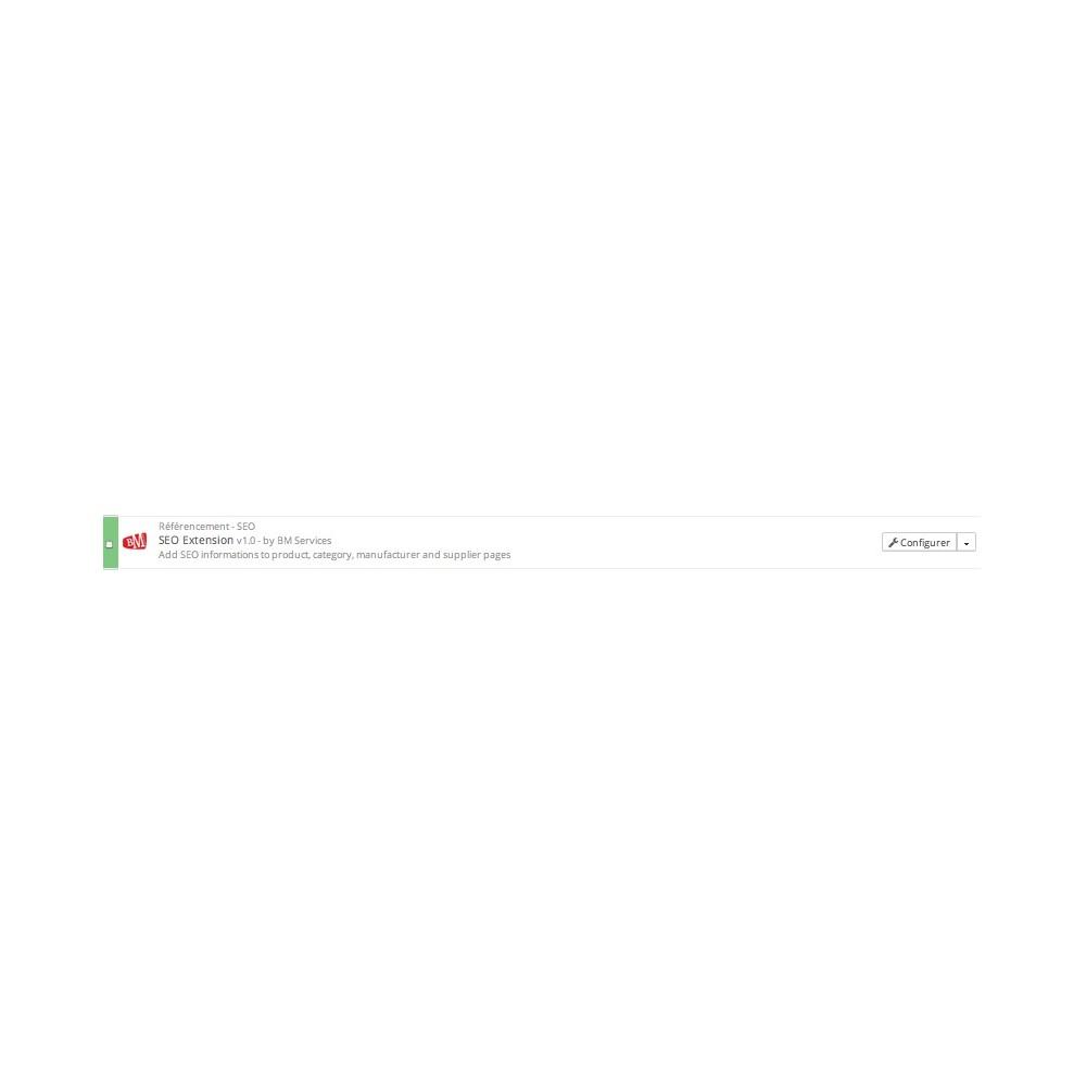 module - SEO (référencement naturel) - SEO Auto (Optimisation automatique des balises métas) - 4