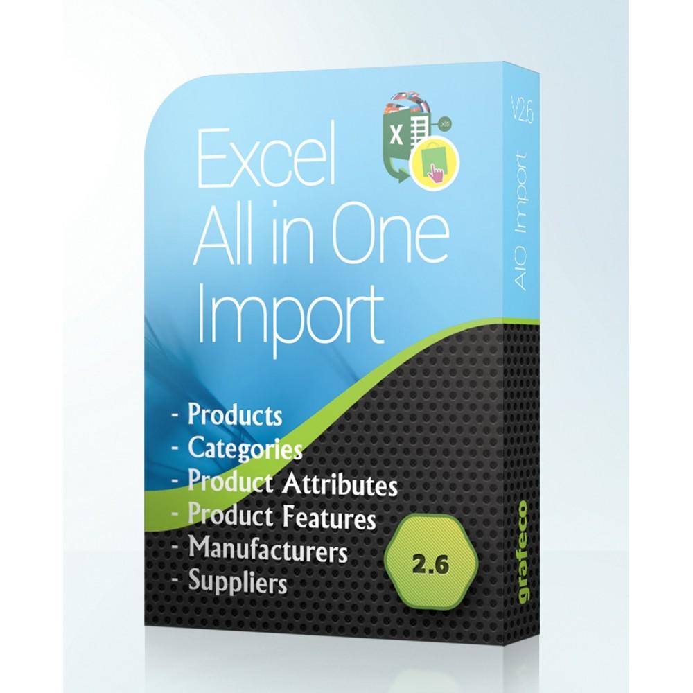 module - Importación y Exportación de datos - Excel All in One Import - 1
