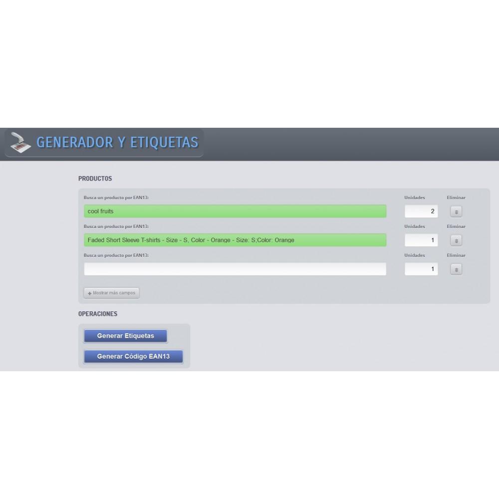 module - Gestión de Stock y de Proveedores - Generador de códigos de barras y EAN13 - 1