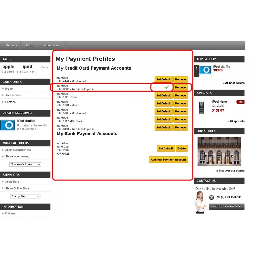 module - Оплата банковской картой или с помощью электронного кошелька - Authorize.Net Customer Information Manager (CIM) - 5