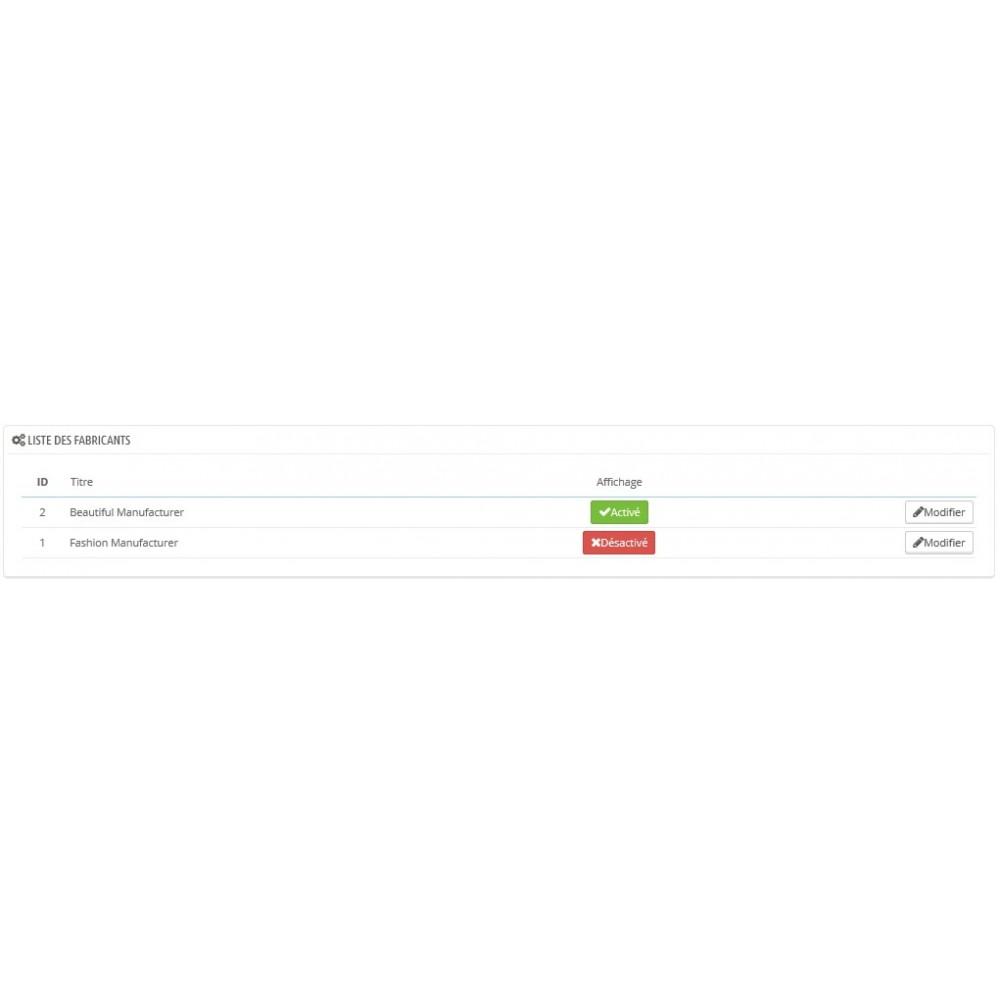 module - Marques & Fabricants - Ajoutez un diaporama à vos pages fabricant - 2