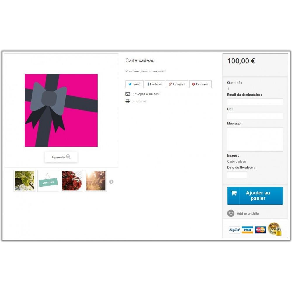 module - Liste de souhaits & Carte cadeau - Carte cadeau  1.6 - 2